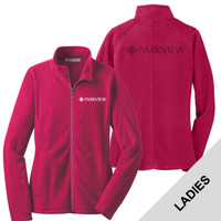 L223 - Ladies Microfleece Jacket with LASER ETCH BACK