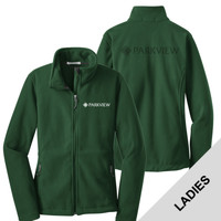 L217 - Ladies Fleece Jacket with LASER ETCH BACK