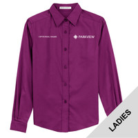 L608 - Ladies Woven Long Sleeve Shirt